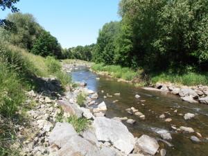 Spodní závodní úseky řeky Lubiny